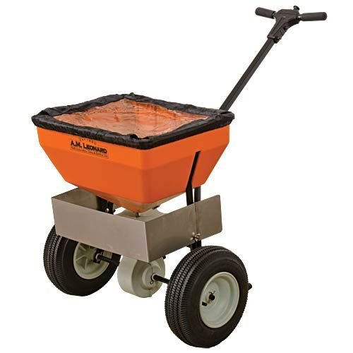 AM Leonard Broadcast Spreader with Deflector - 70 Pound Capacity