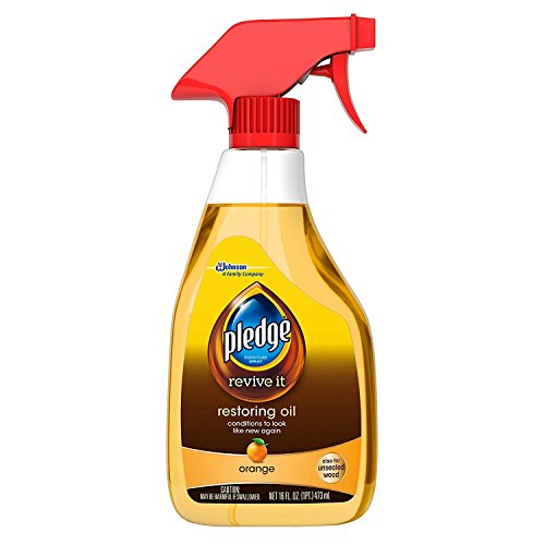 Trigger Cleaner Spray Oil Orange - S C Johnson Wax 26363 Pledge Spray, 16-Ounce, Orange