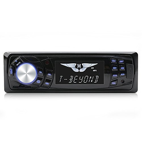 OMV Car stereo Car Stereo with Bluetooth,In-Dash Single Din Car Radio, Car MP3 Player USB/SD/AUX/Wireless Remote Control Included