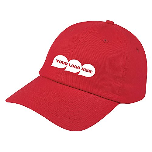 Brushed Cotton Twill Cap - 48 Quantity - $5.35 Each - PROMOTIONAL PRODUCT/BULK/BRANDED with YOUR LOGO/CUSTOMIZED (Clothing Promotional Customized)