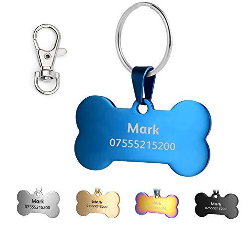 Etiquetas de identificación KSZ para mascotas de acero inoxidable