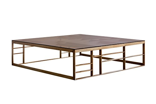 Amazon Com Sunpan Modern Joanna Square Antique Brass Coffee Table