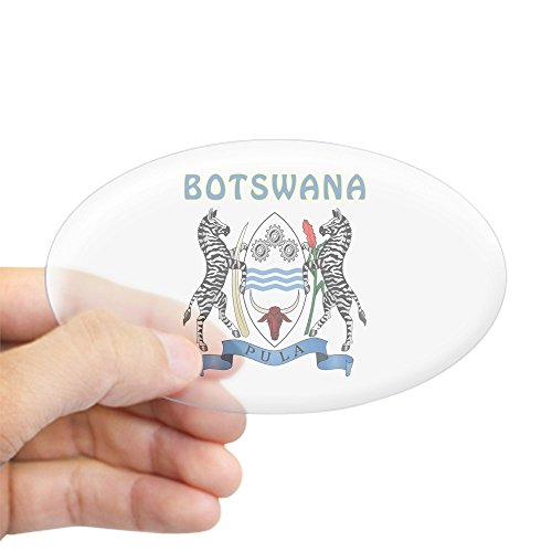 CafePress Botswana Coat of Arms Oval Bumper Sticker, Euro Oval Car Decal