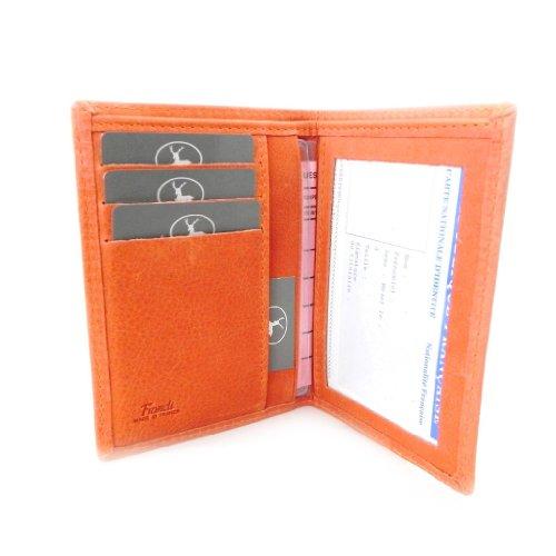 Leather wallet 'Frandi' orange nubuck. by Frandi
