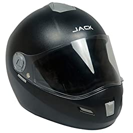 Steelbird SBH-2 Jack Dashing Full Face Helmet with Plain Visor (Large 600 MM, Dashing Black)