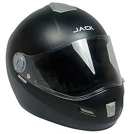 Steelbird SBH-2 Jack Dashing Full Face Helmet with Plain Visor (Large 600 MM, Dashing Black)