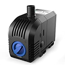 SongJoy 158GPH Submersible Pump for Aquarium Indoor Outdoor Water Garden Hydroponic Pond With 4.9ft Power Cord