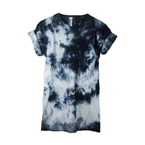 Abstract Black Tie Dye Unisex Mens Womens T-shirt