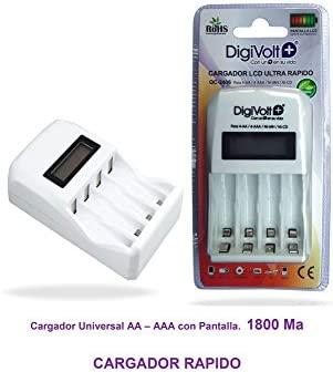 Digivolt - Cargador rápido aa/aaa qc-2406