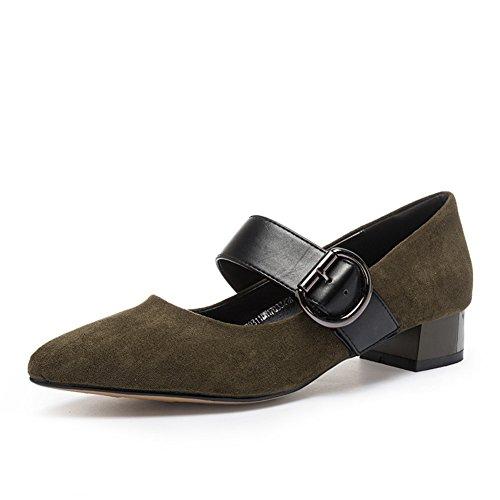 PUMPS Ladies, Heel Heels,Schuhe mit Spitze-B Fußlänge=23.8CM(9.4Inch)