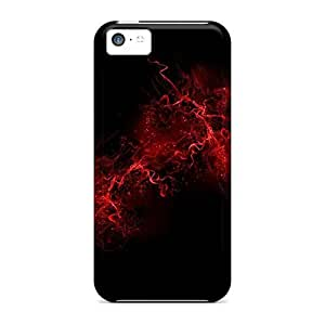 Protective Hard shell Case With Fashion For Iphone 5/5S Case Cover (red Paint Black)