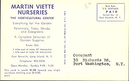 Martin Viette Nurseries Route 25a East Norwich New York Ny