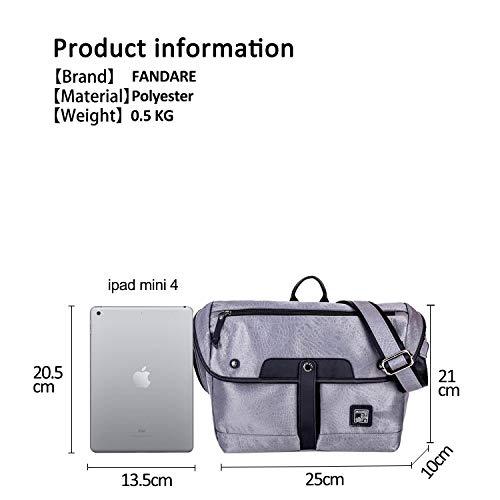 Bandoulière Outdoor Bag Camping Fandare Crossbody Argent Imperméable À Voyage Multifonctionnel Polyester Homme Randonnée Casual Sac Shoulder q11f8ta