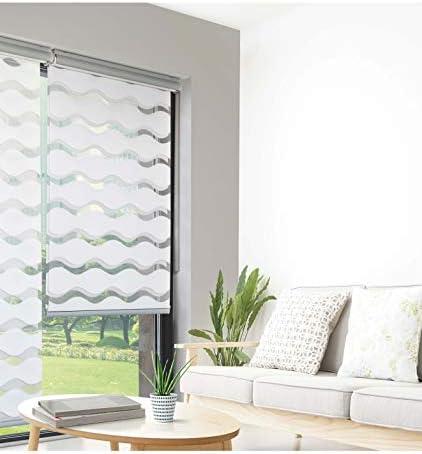 MADECO Store Enrouleur Jour Nuit Semi Coffre Blanc 60 x 160cm-Blanc Blanc