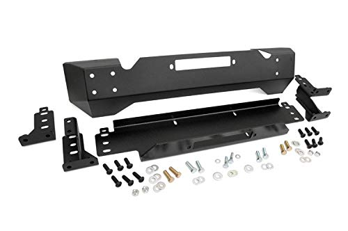 Rough Country - 1012 - Front Stubby Winch Bumper for Jeep: 97-06 Wrangler TJ 4WD, 04-06 Wrangler Unlimited LJ 4WD, 87-95 Wrangler YJ 4WD (Stubby Winch Bumper)