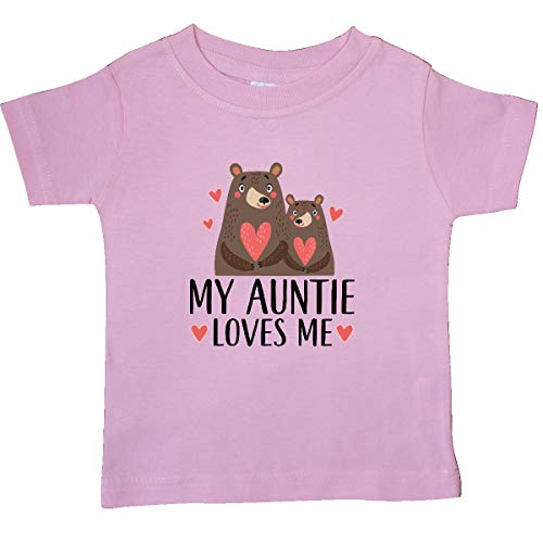 Woodland Bears T-shirt - inktastic - My Auntie Loves Me Woodland Bear Baby T-Shirt 12 Months Pink 33b1e