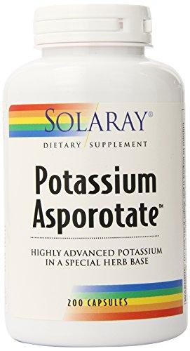 Solaray Potassium Asporotate Supplement, 99 mg, 200 Count