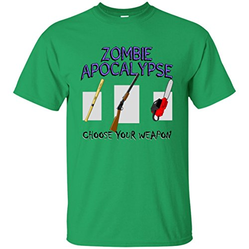 Hand Drawn Tees Zombie Apocalypse - Choose Your Weapon! Survival Horror Tshirt