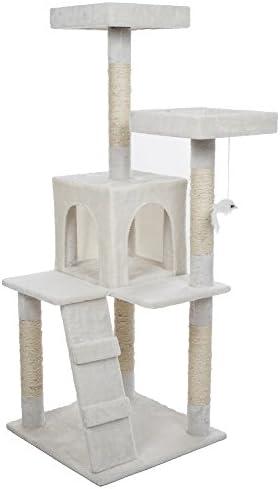 PETMAKER Penthouse Sleep Play Cat Tree, 4 , White
