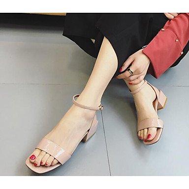 RTRY La Mujer Comodidad Verano Sandalias De Charol Nude Borgoña Casual Rosa Luz Verde Del Ejército 2A-2 3/4 Pulg. US6 / EU36 / UK4 / CN36