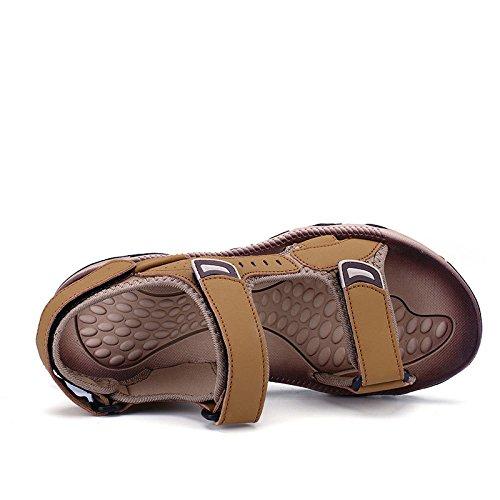 Hombres Playa Del Velcro La De Zapatos Respirables Verano Yellow Ocasionales Los Sandalias Moda O6RExSn