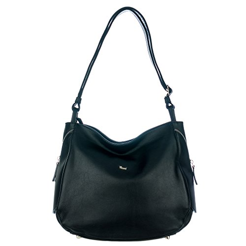 Zip Calf Leather Large Tote - 7