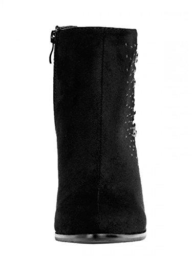 CASPAR Fashion - Botas para mujer - stiefelette schwarz
