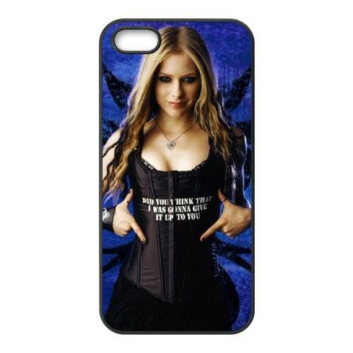 Avril Lavigne Singer coque iPhone 5 5S cellulaire cas coque de téléphone cas téléphone cellulaire noir couvercle EOKXLLNCD21908