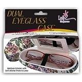 Lady Elegance Dual Eyeglass Case-  Floral Pattern