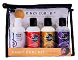 Curly Hair Solutions® Curl Keeper® Kinky Curl Travel Kit | 4 x 3.4oz/100ml | Effortless Styling for Even The Most Stubborn Curls
