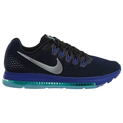 Nike Womens Zoom All Out Scarpe Basse Da Running Nero / Argento Metallizzato / Viola Persiano