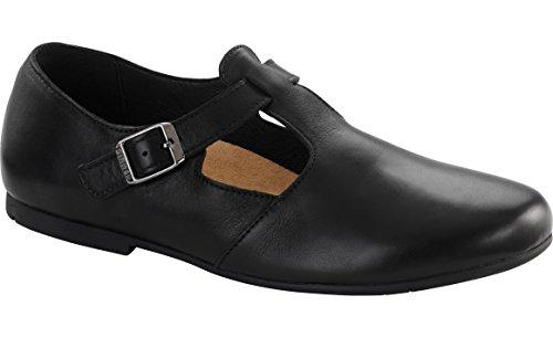 Birkenstock Women's Tickel Flat Black Leather Size 38 M EU