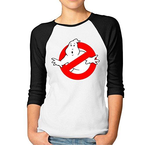 * NEW * Women's Ghostbusters 80s Logo Raglan T-shirt