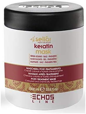 Echosline Mascarilla Seliar KERATIN Mask Post tratamiento keratina 1000 mL 1L