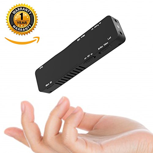 Mini Hidden Portable 1080P Indoor Security Covert Secret Nanny Cam, Built-in Full HD Night Vision, Smart Motion Detection Activated Sensor, Webcam Function, Anti Spy Camera Detector Proof