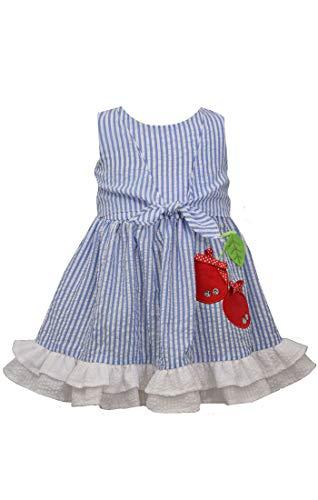 Bonnie Jean Dress - Seersucker with Cherries Dress for Baby and Little Girls