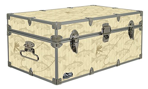 Cottage & Cabin Storage Trunk - 14 Themed Footlockers - 32 x 18 x 13.5 (Oak Steamer Trunk)