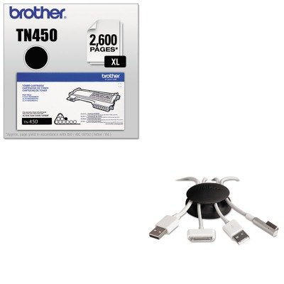 KITBRTTN450PRBDCC40MCK - Value Kit - Paris Business Products Dotz Cord Catcher (PRBDCC40MCK) and Brother TN450 TN-450 High-Yield Toner (BRTTN450) by Paris Business
