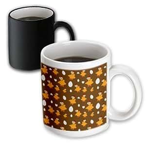 Anne Marie Baugh Cute - Yellow Chickens and White Egg Pattern - 11oz Magic Transforming Mug (mug_78194_3)