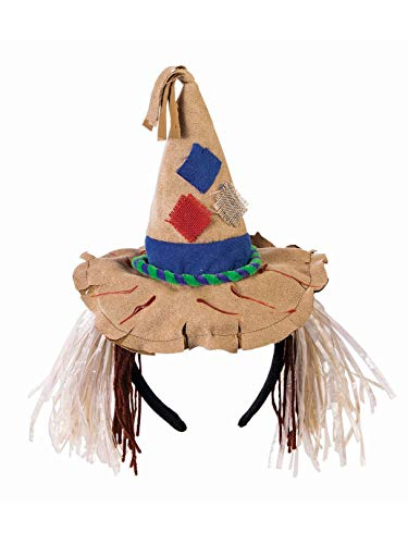 Forum Novelties Unisex-Adults Scarecrow Headband, Brown, Standard -