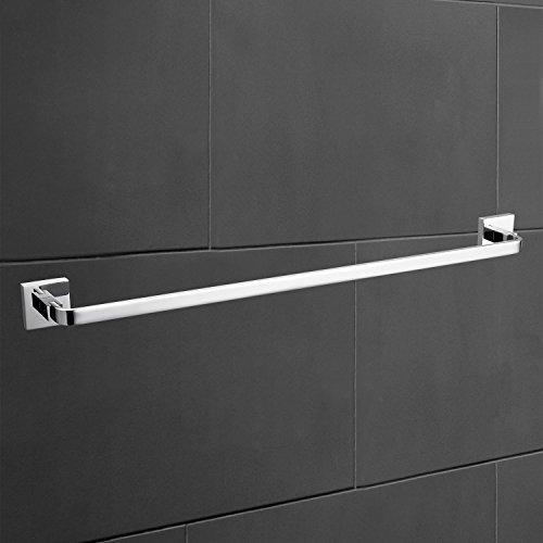 StarFashion 3-peice Bathroom Accessories Set Towel Bar Toilet Paper Holder Robe Hooks Bathroom Shelf Solid Brass Wall Mounted,Chrome Finish Contemporary Bath Shower Set Kitchen Towel Racks by StarFashion (Image #1)
