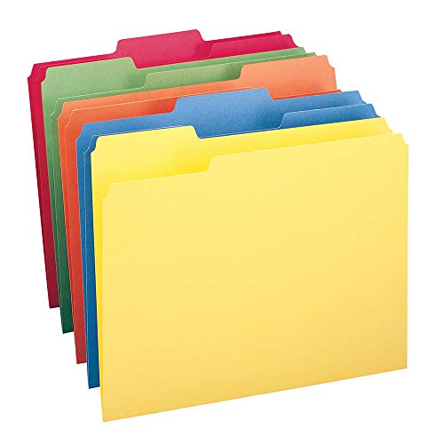 Smead File Folder, 1/3-Cut Tab, Letter Size, Assorted Colors, 100 per Box, (11943) from Smead