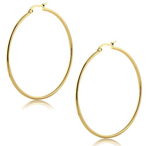 Iparis 14k rose heart earrings