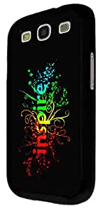 358 - Watercolor Inspire Word Design For Samsung Galaxy S3 i9300 Fashion Trend CASE Back COVER Plastic&Thin Metal