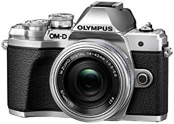 Olympus - Kit de cámara OM-D E-M10 Mark III Sistema Micro Four Third, Sensor 16 Mpx, autoenfoque táctil, Visor electrónico, vídeo 4K, Wi-Fi, en Plata con el Mo Digital 14-150mm F4.0-5.6 II Negro