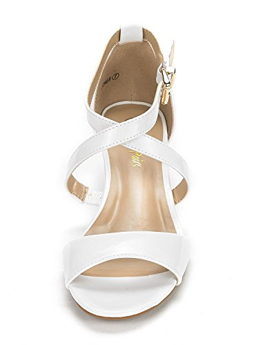 777efa5bb63 ... DREAM Dress Wedge Jones Thong Women Sandals pat Pumps PAIRS Crossover  white Low rqxA0rw