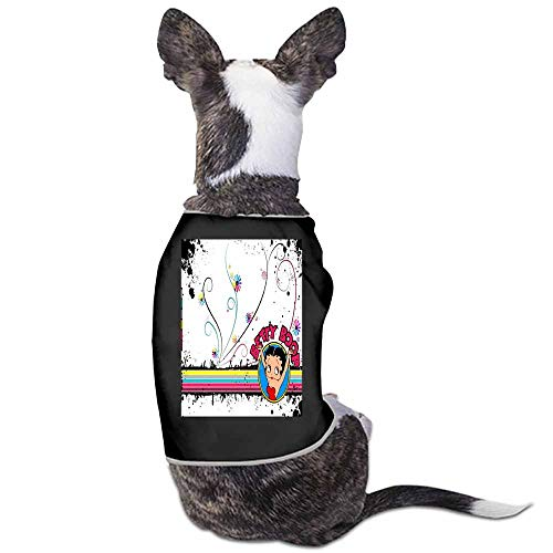 StyleDirect Dog Summer Vest Clothes,Betty Boop Print Sleeveless T Shirt for Small Pet(Black)-L