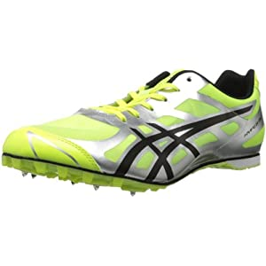 Mens ASICS Hyper? MD 5, Neon Yellow/Black/Bright Yellow , 11 D