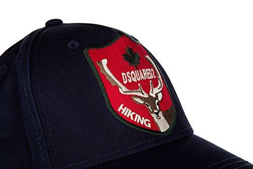 Dsquared2 adjustable men's cotton hat baseball cap gabardine blu by DSQUARED2 (Image #5)