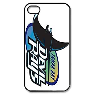 MLB iPhone 4,4S Black Tampa Bay Devil Rays cell phone cases&Gift Holiday&Christmas Gifts NADL7B8824909